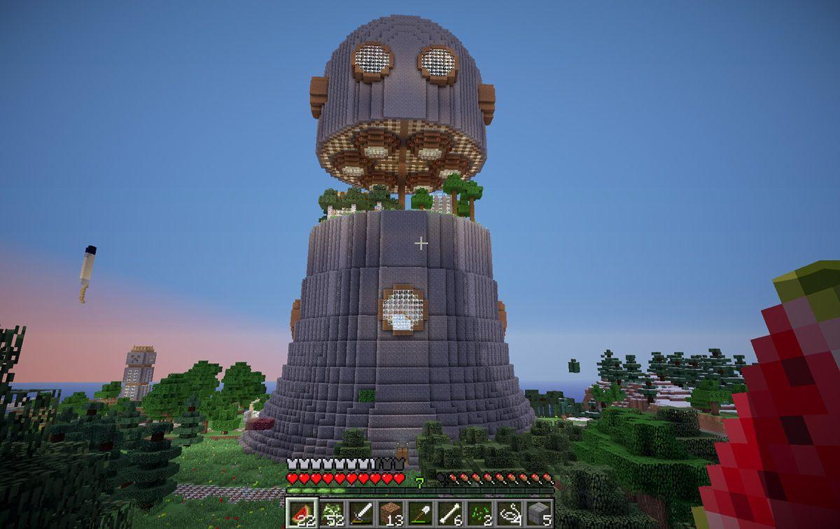 how+to+make+minecraft+tower | Minecraft Robot Tower