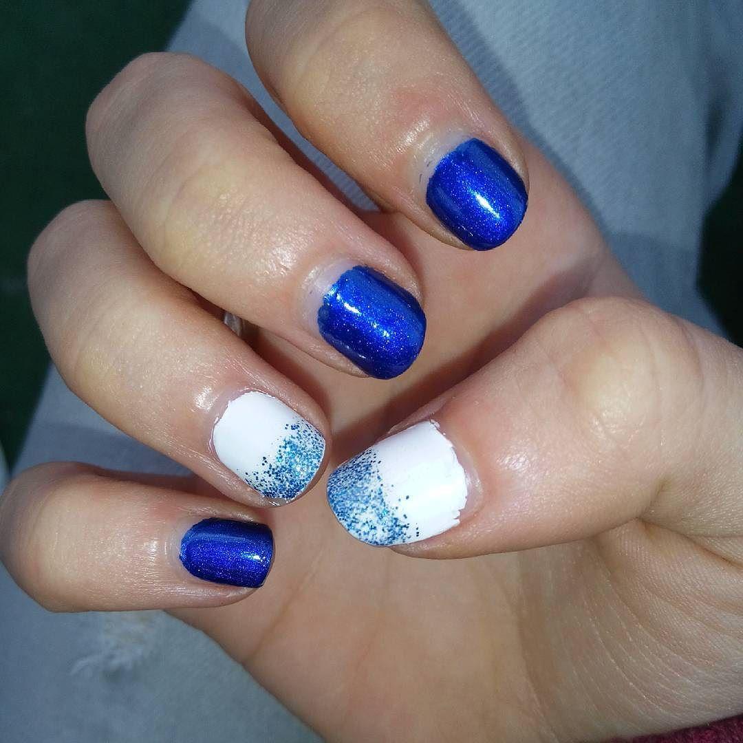 Made my nails again #nailsart #nails #diy #nagellack #nightblue ...