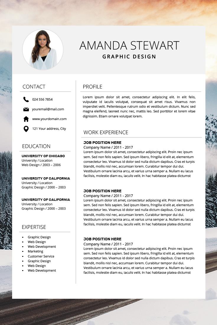 Resume Template Cv Template Professional Resume Resume Etsy Resume Template Word Resume Template Professional Resume Template