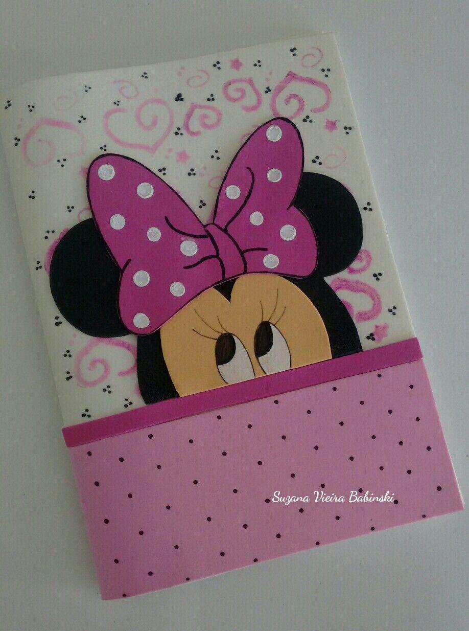 Capa decorada minnie pinterest cuadernos - Goma eva decorada ...