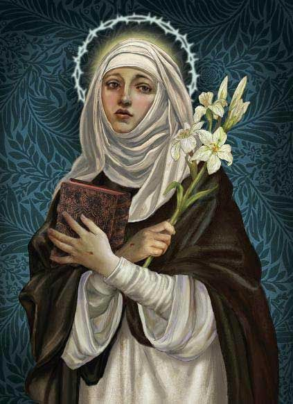 The Lily Is The Flower Attributed To Saint Catherine Of Siena She