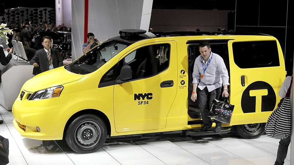 The new NYC cabs may be spacious and practical with sliding doors but they sure are no beauties.