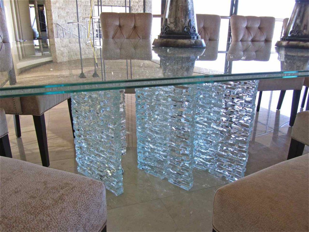 shattered tempered glass coffee table Loris Decoration