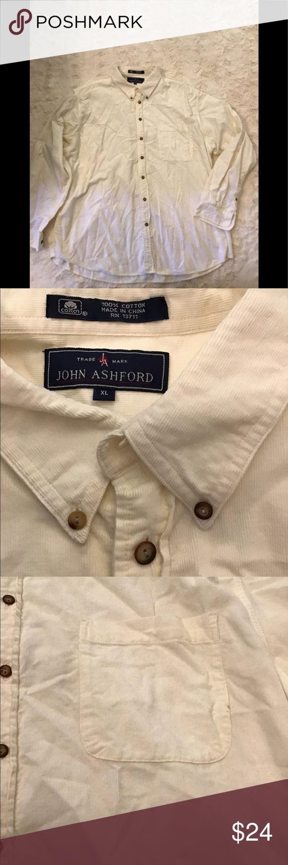 John Ashford Xl Men S Cream Corduroy Shirt John Ashford Trade Mark Xl Men S Cream Corduroy Shirt Small Spot On Pocket Smoke Free And In 2020 Corduroy Shirts Fashion