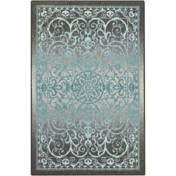 Hudson Gray Blue Area Rug