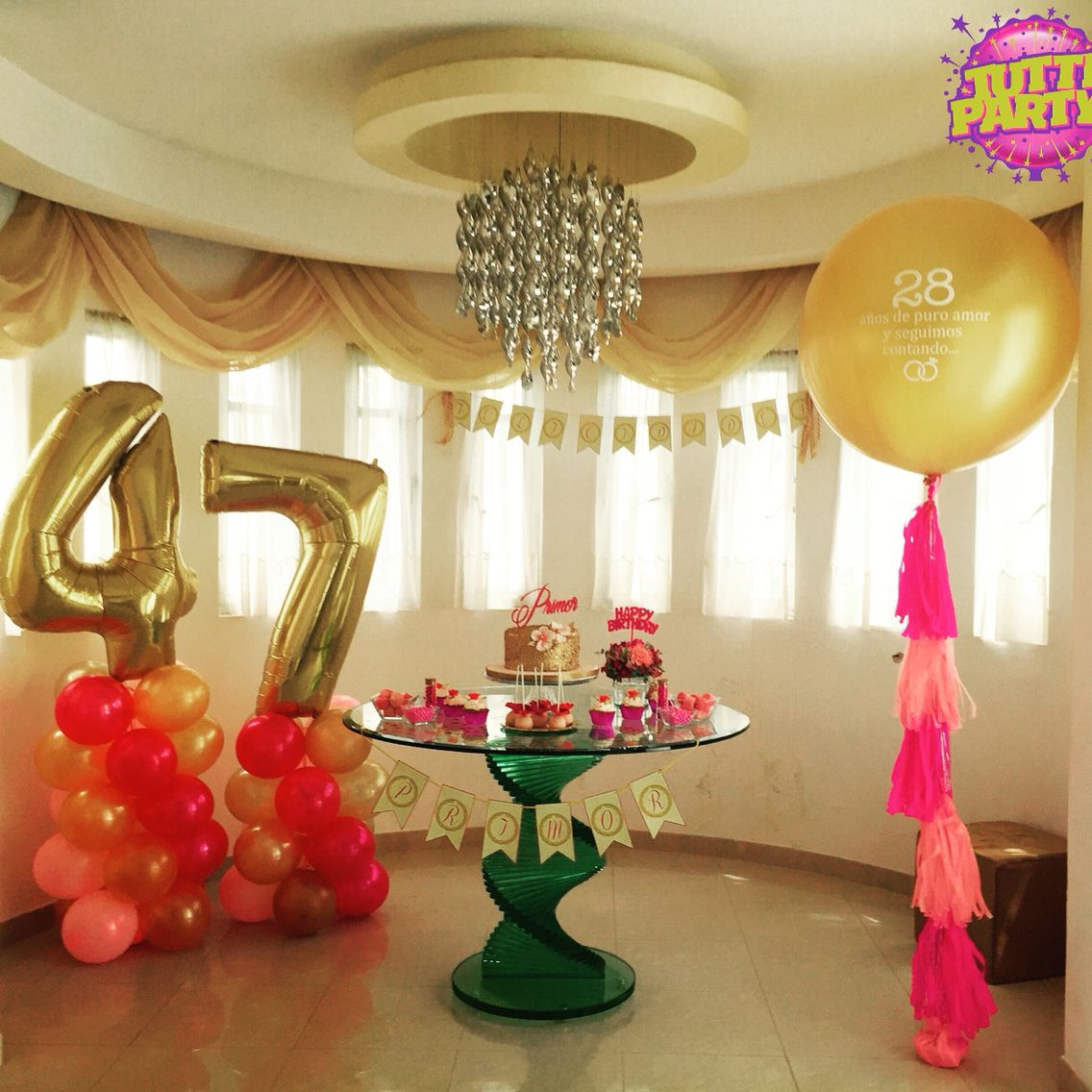 Elegant Balloons decorations golden balloons Elegant birthday