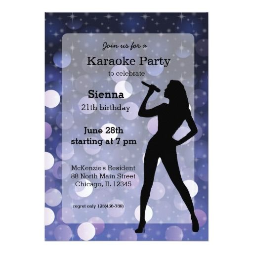Karaoke Party Invitation Zazzle Com Fiesta Sorpresa