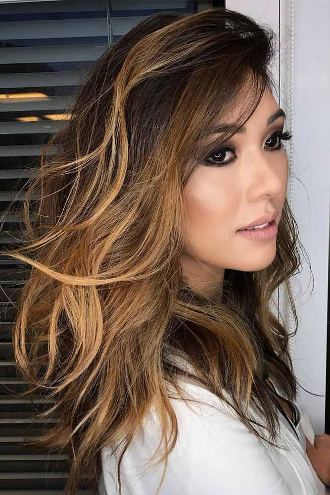 50 balayage hair ideas in brown to caramel tone hair. Black Bedroom Furniture Sets. Home Design Ideas