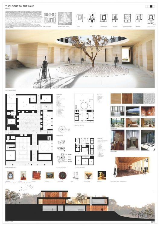 Winners of australia 39 s the lodge on the lake competition for Raumgestaltung innenarchitektur studium