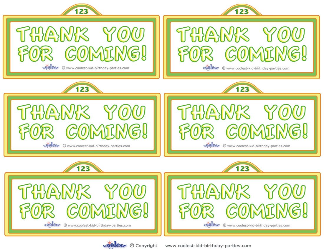 Printable Sesame Street Sign Thank You Cards Coolest Free