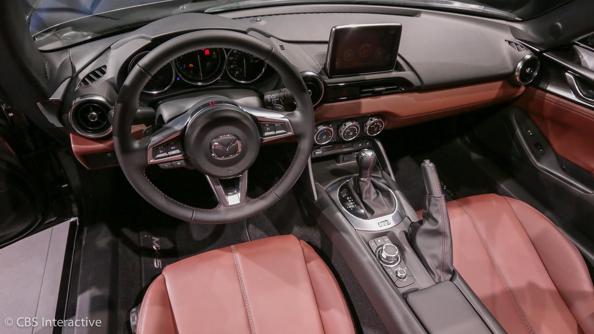 2017 Mazda MX 5 Miata RF on stage interior Mazda