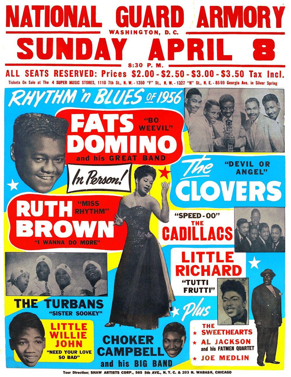 Fats Domino poster - Washington - 1956