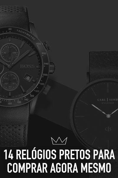 9d8361081b44a 14 relógios pretos para comprar agora mesmo   Relógios preto ...