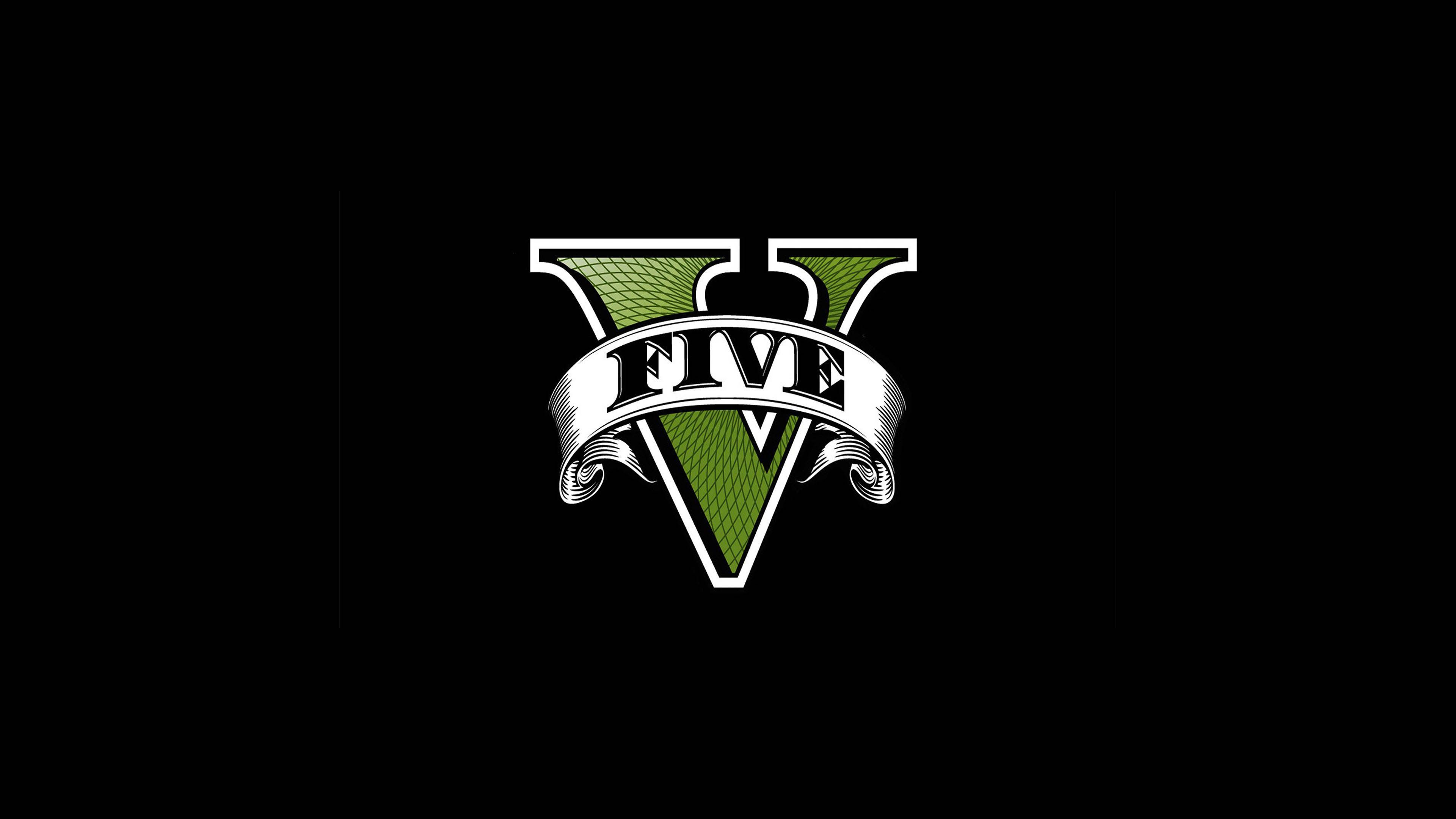 GTA 5 Five Logo 3840x2160 wallpaper | Video Games | Gta 5