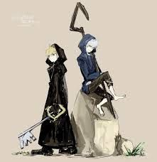 Jack Frost and Roxas Rise of the Guardians x Kingdom Hearts