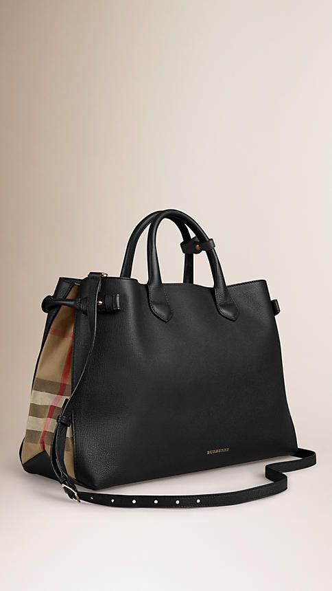 569764fcb BOLSA THE BANNER GRANDE EM COURO E HOUSE CHECK | BURBERRY | Pinterest |  House,
