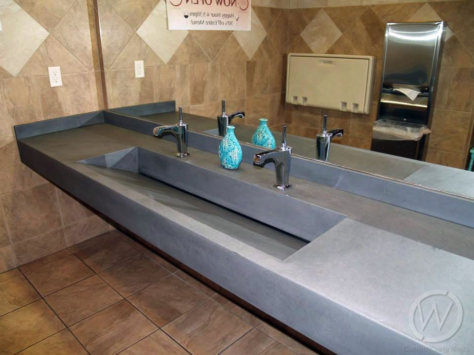 Concrete Restroom Sinks And Counters