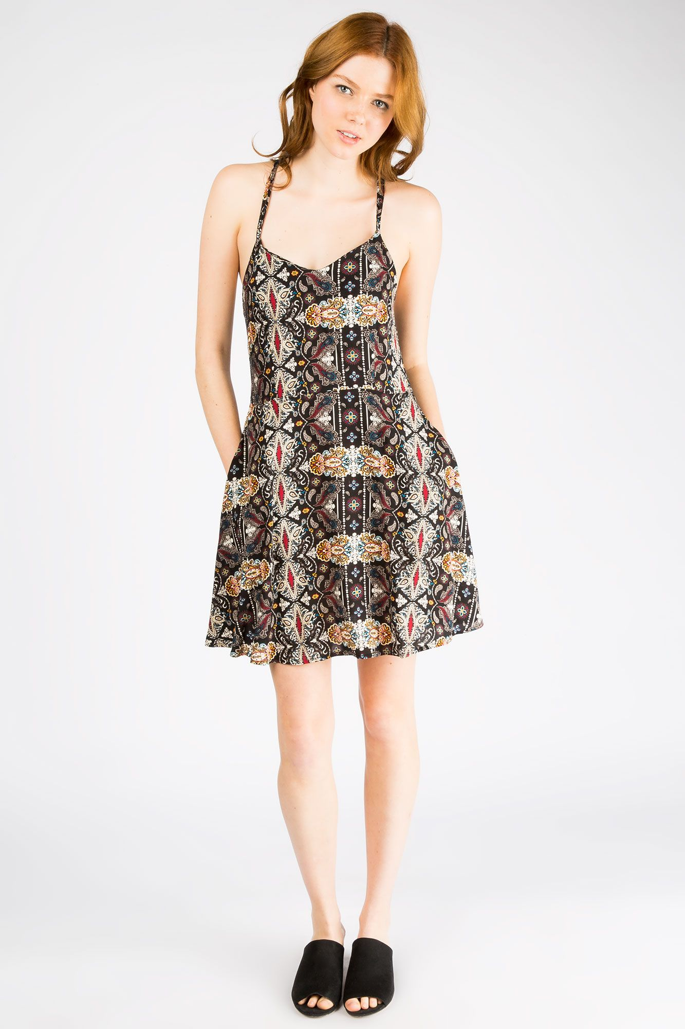 Girls Fit And Flare Printed Dress