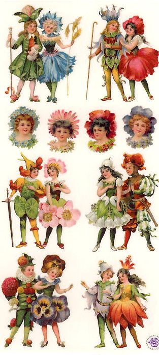 Flower Fairy Stickers For Crafting Made In The Usa