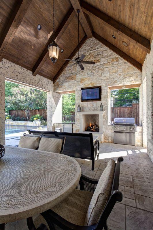 outdoor kitchen/ living space | Outdoor living rooms ... on Outdoor Kitchen Living Spaces id=14141