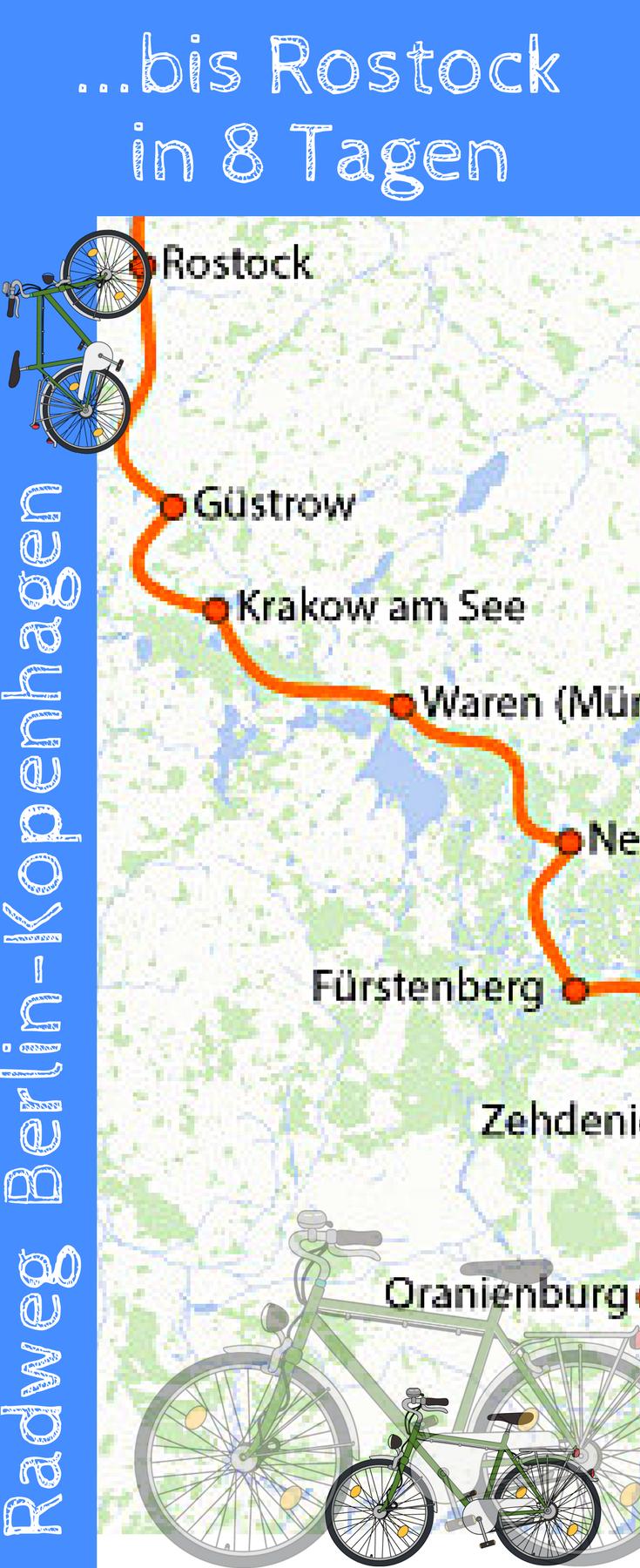 Fahrradreise Von Berlin Nach Rostock In 2020 Radtour Berlin