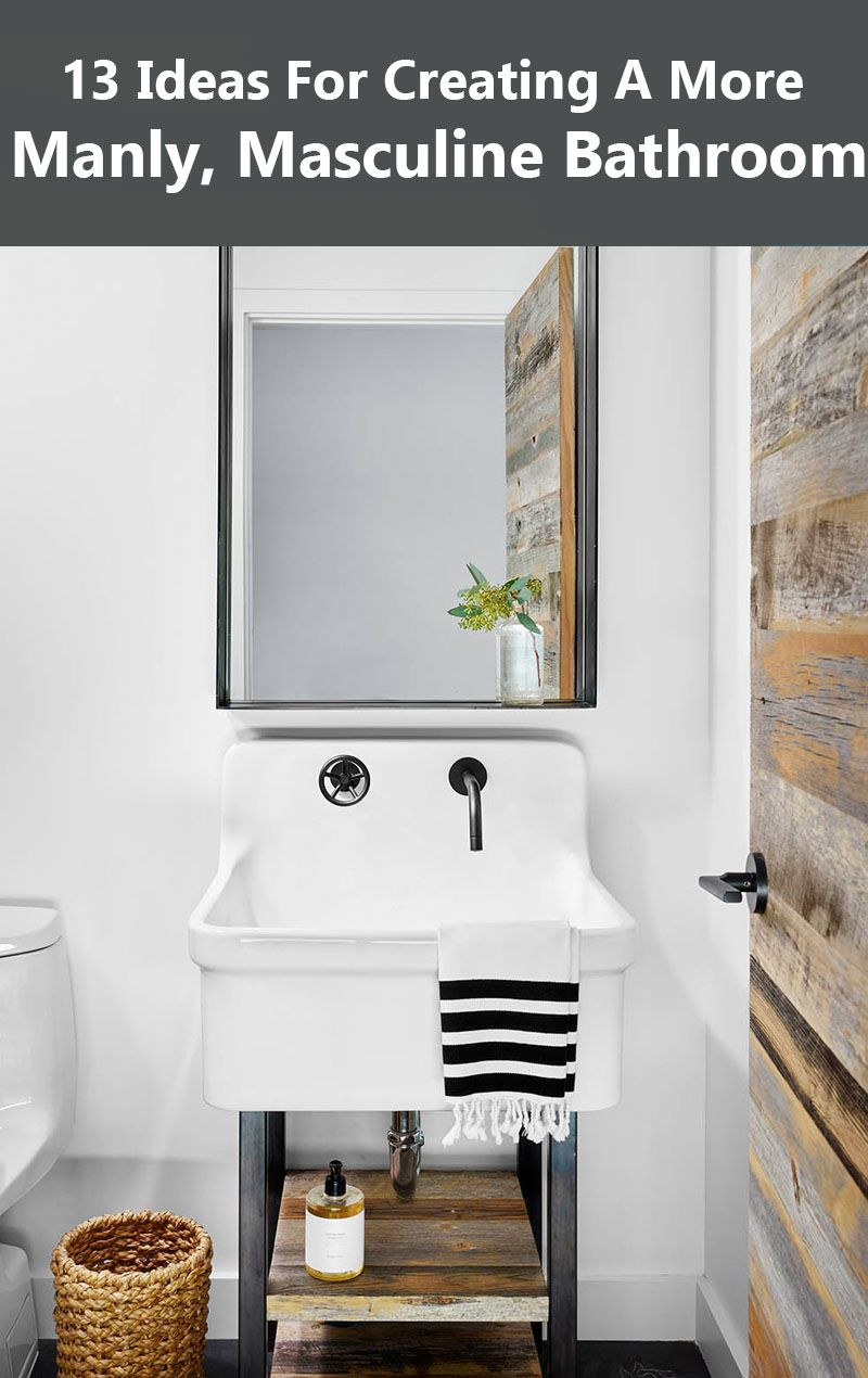 13 Ideas For Creating A More Manly, Masculine Bathroom | Bathrooms ...