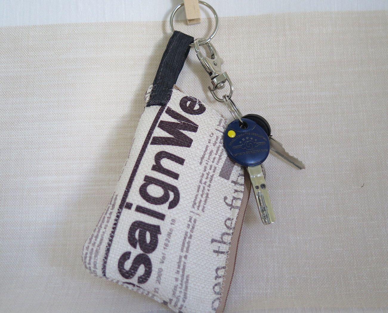 Typography headphones keychain wallet, Small accessories handmade ...