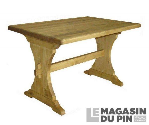 Table Monastere Pin Massif 120 Cm Transilvania Le Magasin Du