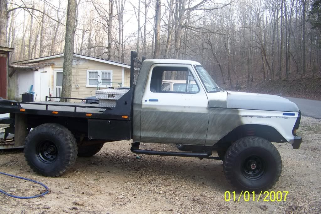 1978 Ford F150 Flatbed 98 F150 4x4 Offroad Supercab Green Grey Int