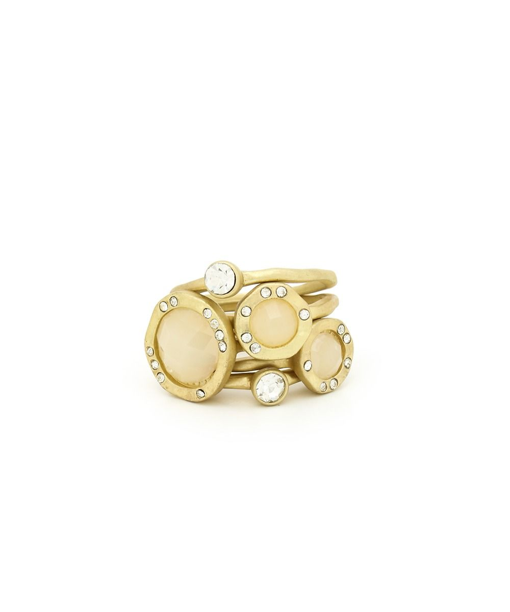 Stack Me Jewel Ring Set - Cream  $7.50