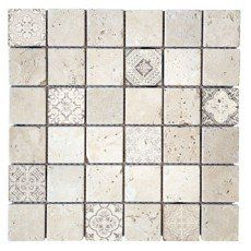 Mosaique Mur Renaissance Travertin Beige Naturel