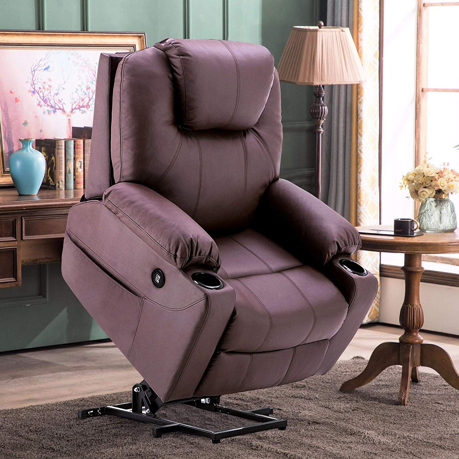 Electric power lift recliner chair sofa with
