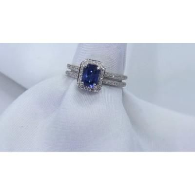 Natural Ceylon sapphire ring for sale $3595.00 at wholesale.