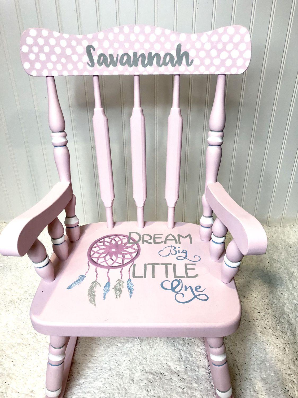 Boho Nursery Chair Kids Rocking Chair Childrens Rocking Chairs Nursery Decor Girl