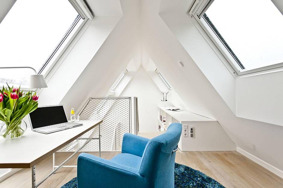 Spitzboden, Arbeitszimmer, Foto Velux Dachausbau Pinterest