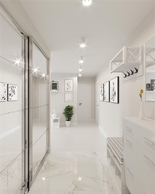 White U0026 Grey Interior Design In The Modern Minimalist Style