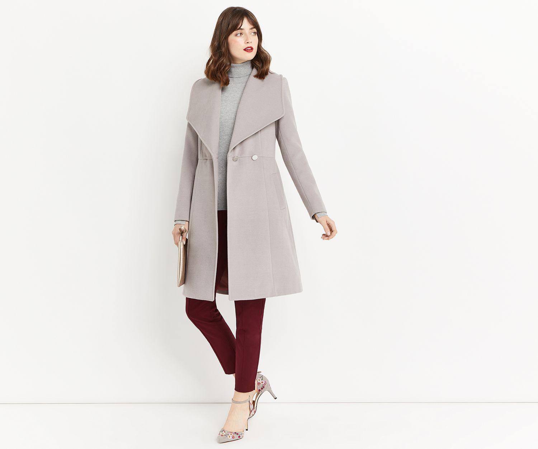 4e5432f048ba Oasis, LILY PREMIUM SKATER COAT Mid Grey | All About Coats | Coat ...