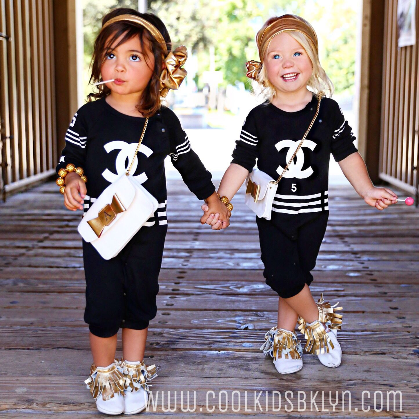 How cute is our Top Selling CC Chanel Inspired Romper for Baby