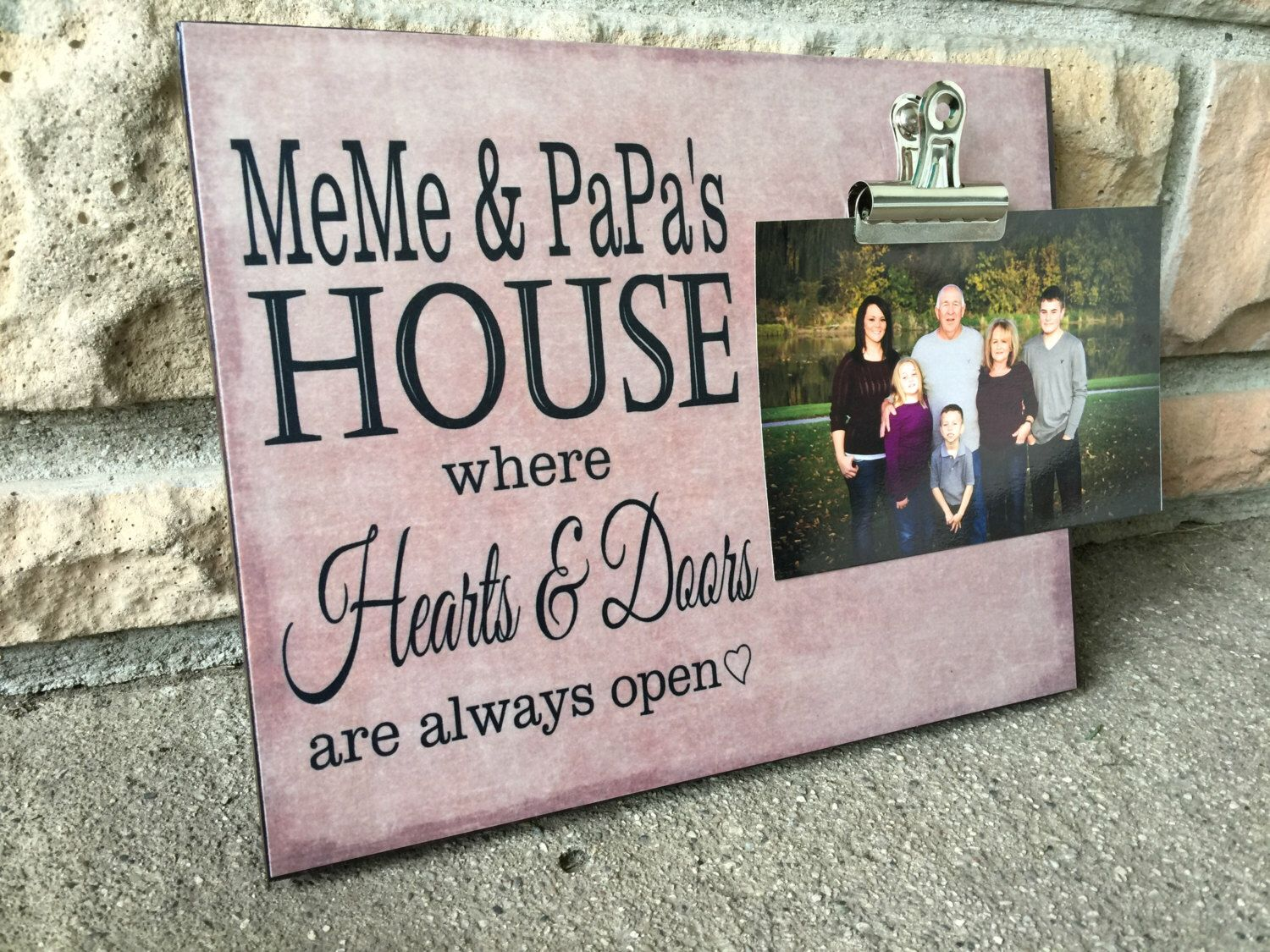 Grandparents picture frame meme papa s house where hearts and