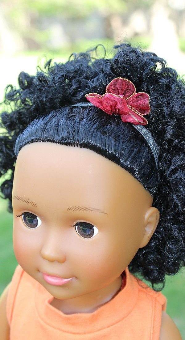Red Flower Head Band for 18 inch Dolls
