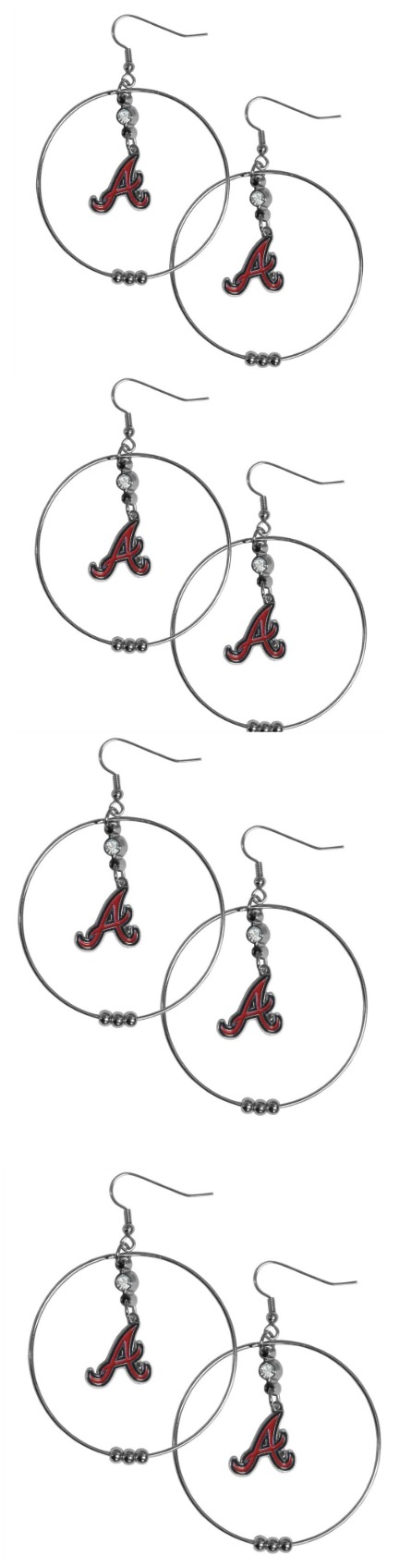 Atlanta Braves 2 Inch Hoop Earrings! Click The Image To Buy It Now or Tag Someone You Want To Buy This For. #AtlantaBraves