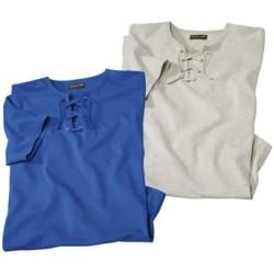 Photo of 2er-Pack T-Shirts mit Schnürung Atlas For MenAtlas For Men