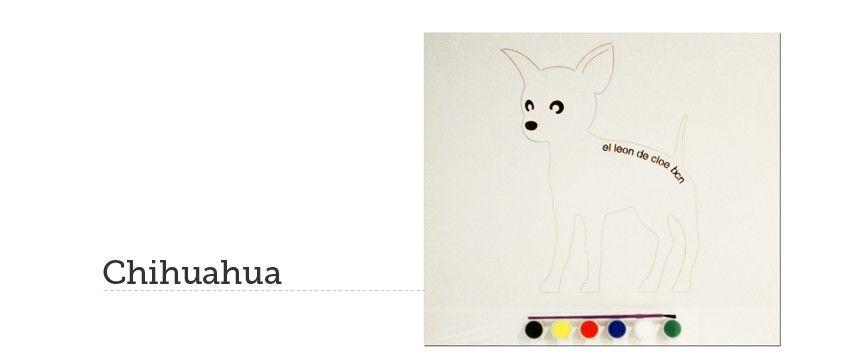 Kit de pintar Chihuahua del León de Cloe. El regalo perfecto para ...