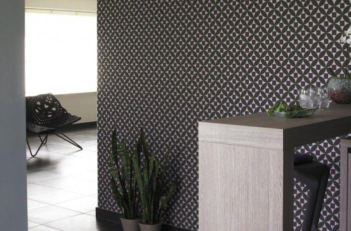 mooi behang voor een accentmuur in de keuken of woonkamer | Verven ...