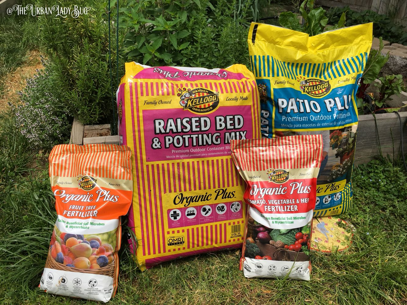 """We got two bags of soil, one """"Raised Bed & potting mix"""