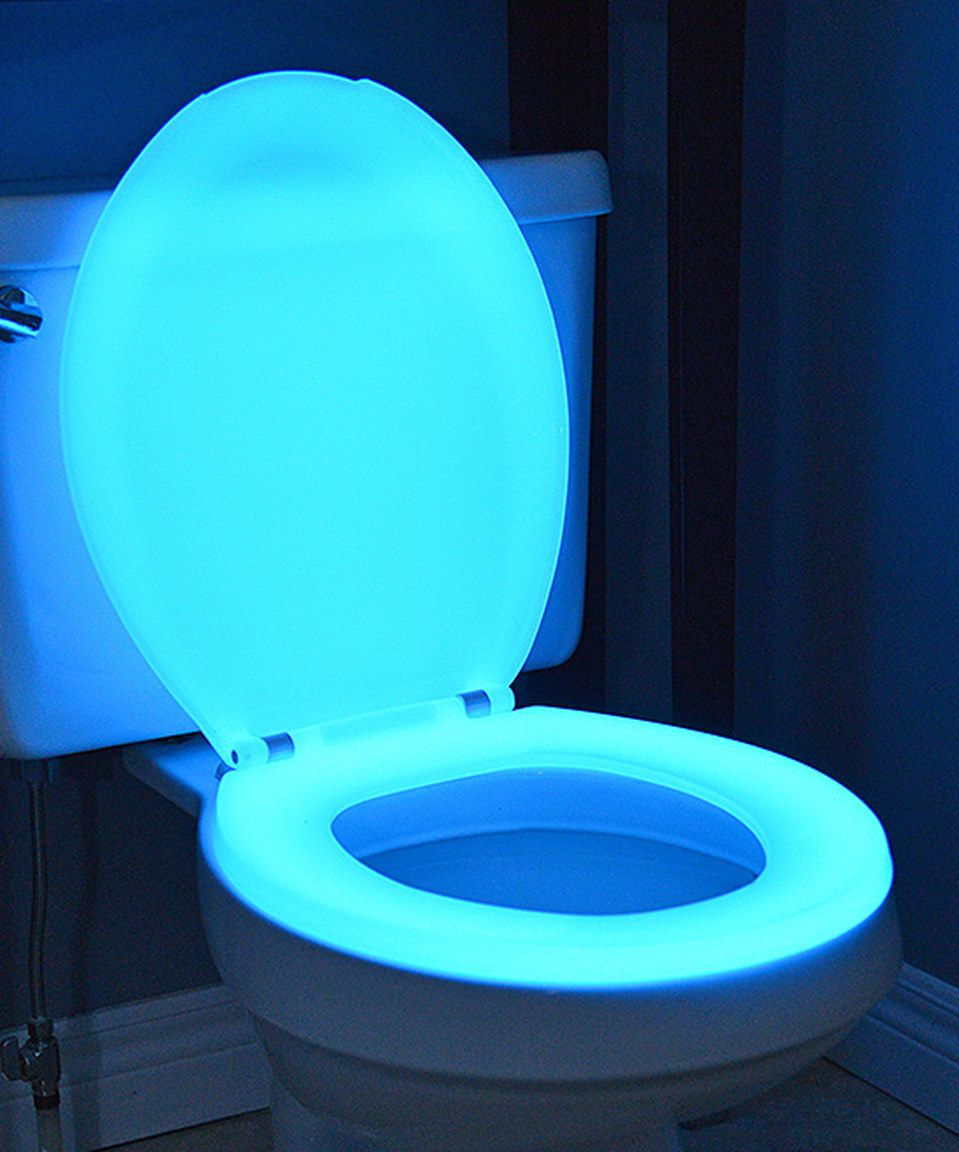 Look what I found on #zulily! Blue Round Glow-in-the-Dark Toilet ...