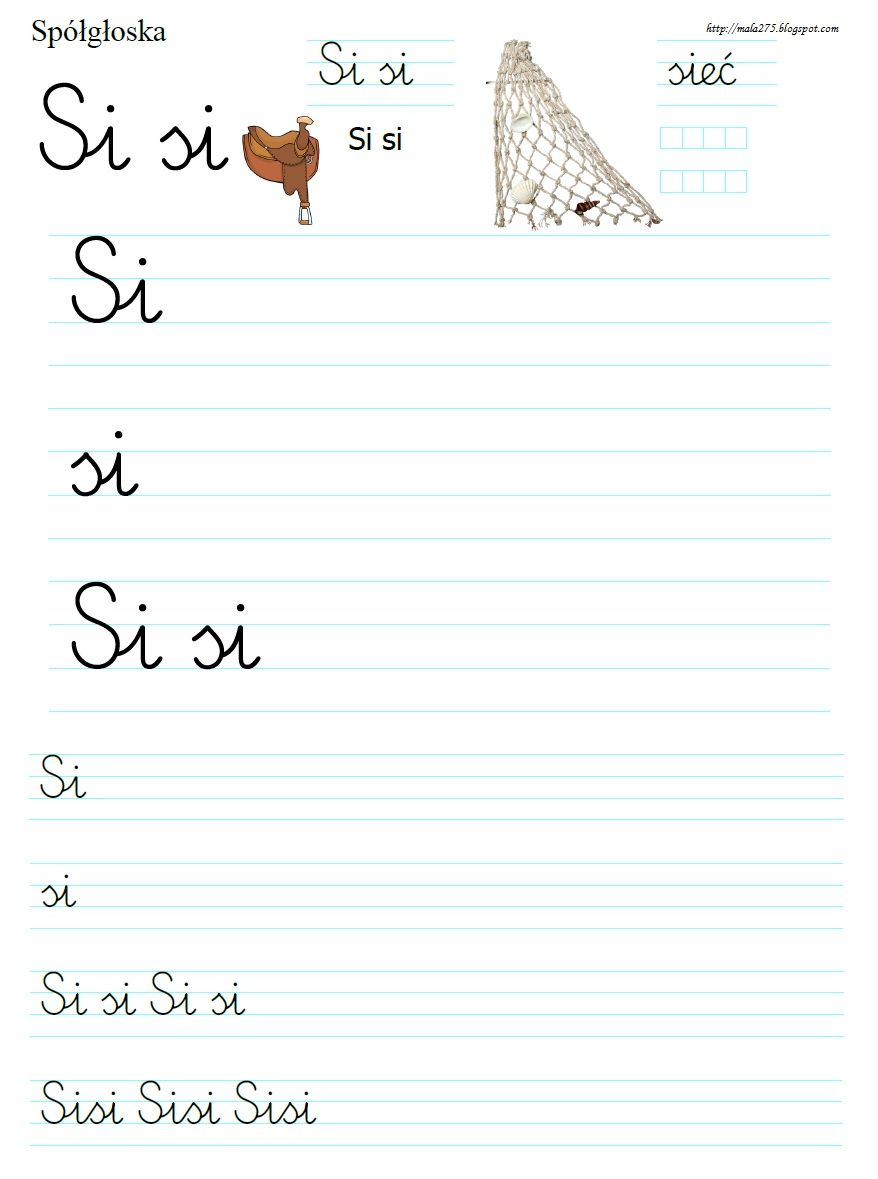 Pin By Sylwia Zk On Uczymy Sie Pisac Polish Language Worksheets For Kids Words