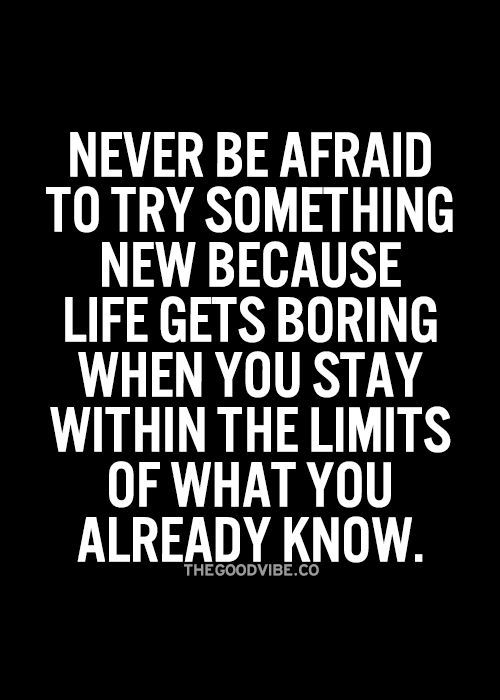 Never Be Afraid To Try Something New Quote Google Search