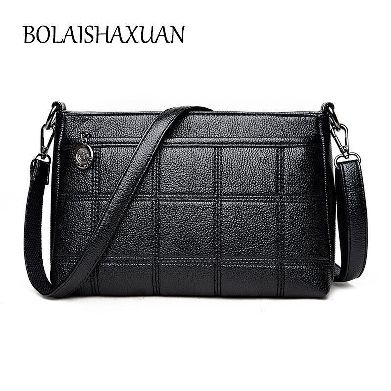 Designer Plaid Women Leather Handbags High Quality Female Crossbody Bag  Brand Big Shoulder Bag Black Casual b0bdc8713b2be