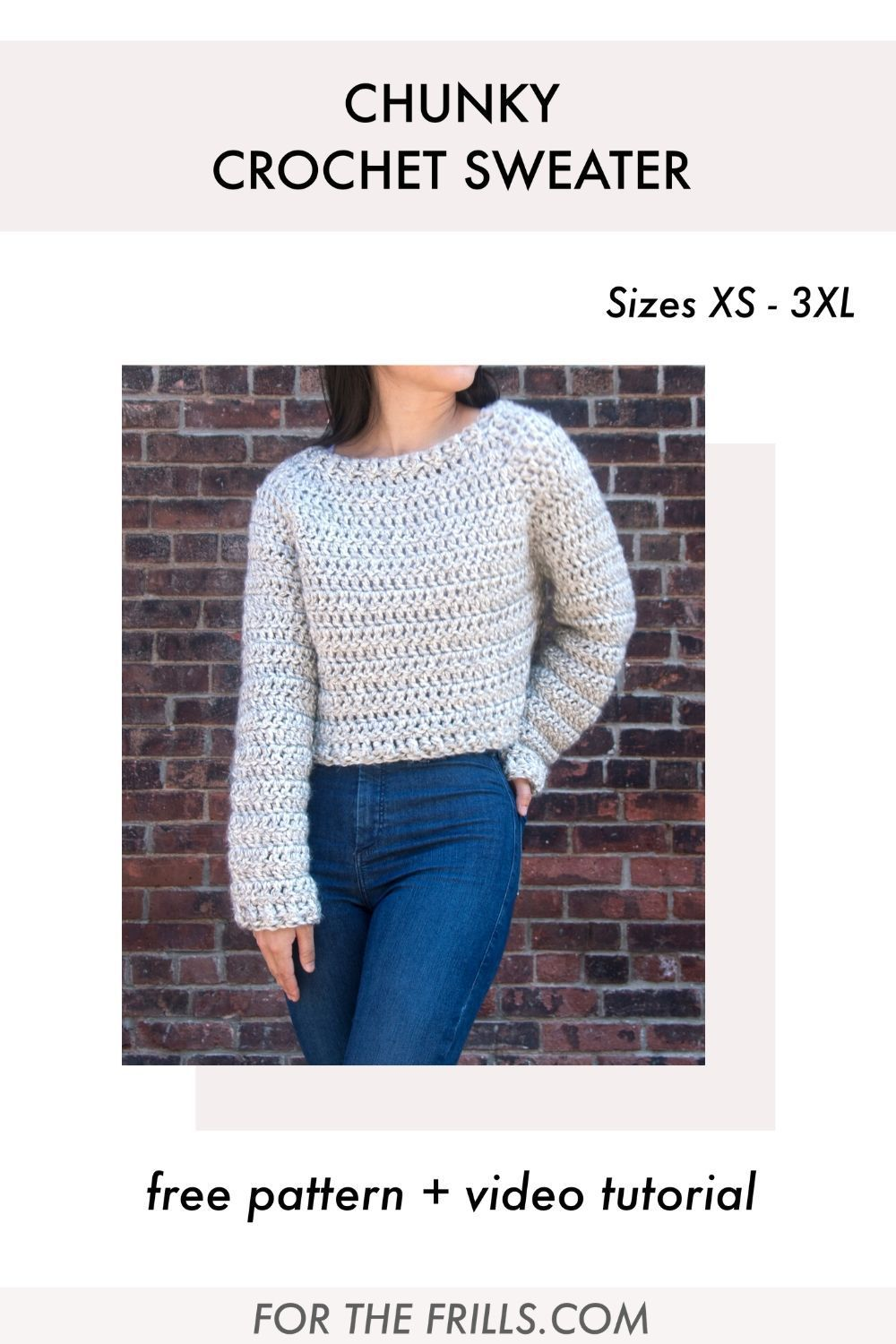Photo of Quick and Easy Crochet Sweater – free pattern and video tutorial